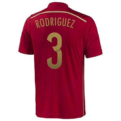 追い付く気候突っ込むAdidas Rodriguez #3 Spain Home Jersey World Cup 2014/サッカーユニフォーム スペイン ホーム用 ワールドカップ2014 背番号3 ロドリゲス