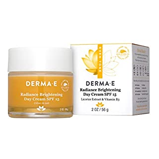 DERMA-E Evenly Radiant Brightening Day Crème SPF 15 with Vitamin C, 2 Oz, 2 Ounce (0333)