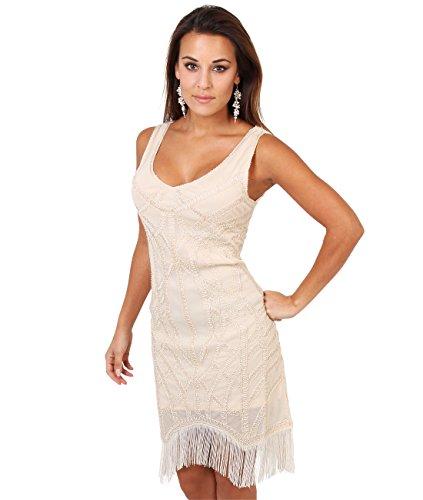 Moulante A Dor Gatsby Femmes Costume KRISP Charleston Great Robe 6464 Franges OZRPIq