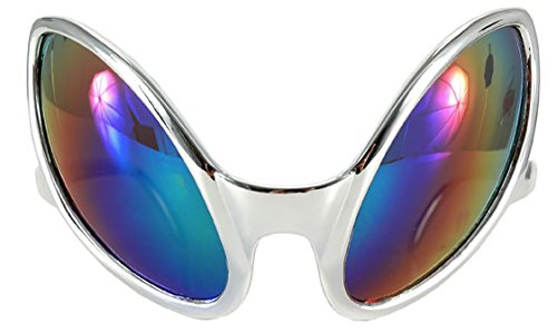 Close Encounter Silver Glasses with Rainbow Lenses by elope ()