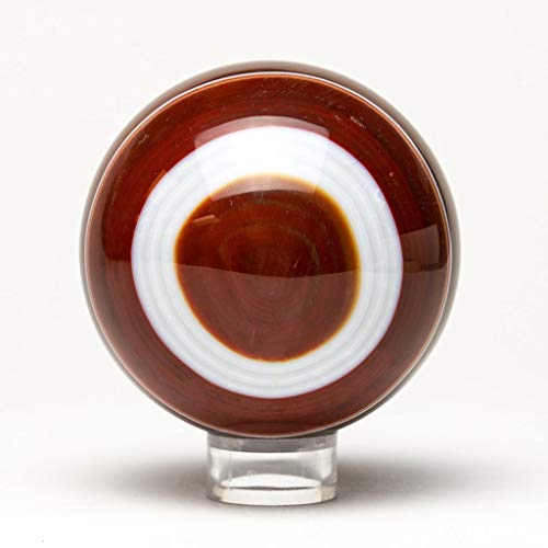 Brown Agate Sphere - Astro Gallery of Gems Polished Small Brown Agate Sphere (2