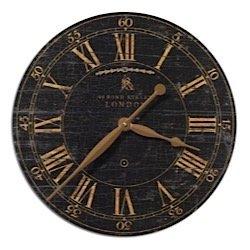 Uttermost Bond Street 18 Black Wall Clock 06029