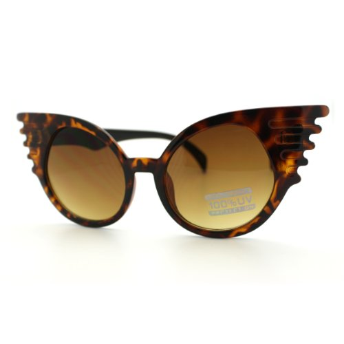 Super Cateye Sunglasses Halloween Bat Girl Butterfly High Fashion Frame - Sunglasses Bat