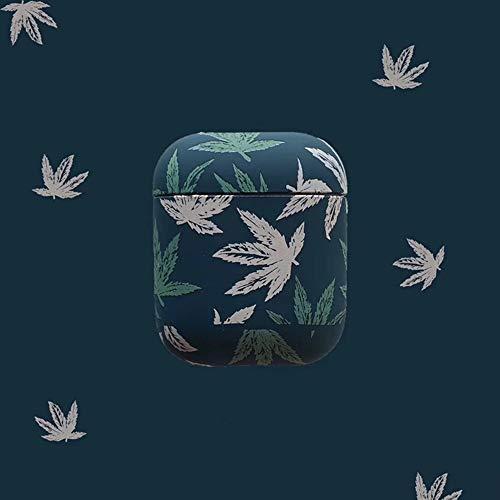 Marijuana Leaf Case Cannabis Weed Cover for Airpods 2 & 1 Green (Marijuana Leaf Case)
