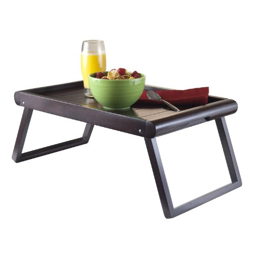 Winsome Wood Wainscoting Top Elise Bed Tray, U-Leg by Winsome Wood (Image #3)