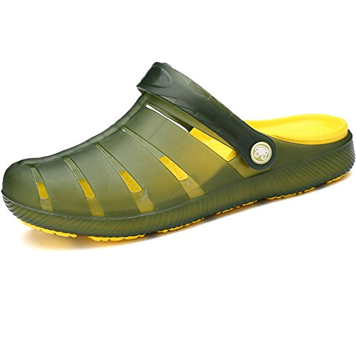 OUMANKE Mens Clogs Breathable Garden Shoes Slip Resistant Beach