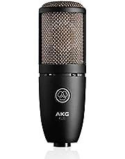 AKG Pro Audio P220 Micrófono de Condensador Vocal, Negro
