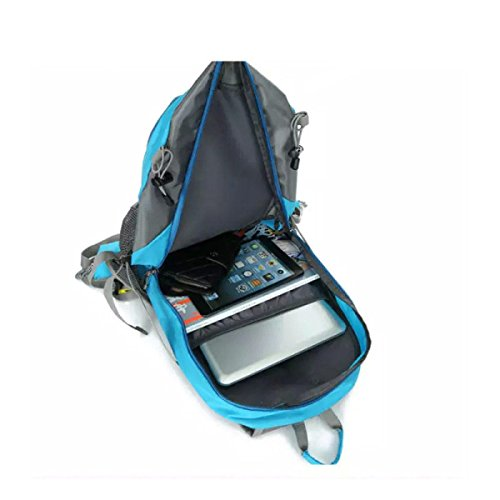 Xin.S40L Impermeabilizan El Bolso Del Alpinismo Recorrido Al Aire Libre Bolso Del Ocio Bolso De Los Deportes Morral Excursión Morral Multi-funcional. Multicolor Blue
