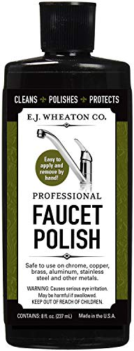 E.J. Wheaton Co. Professional Faucet Polish, Cleans, Shines and Protects All Metal Surfaces, Made in USA Chrome Usa Bathroom Faucet