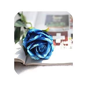 July-Seven 10 Pcs/Lot Wedding Decoration White Rose Artificial Flowers Romantic Date/Party Sending Roses Flower Bouquet Home/Wedding Decor,G 31