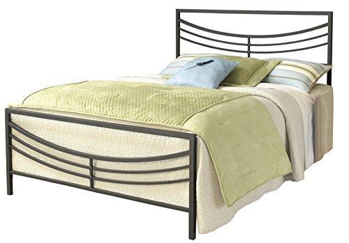 Hillsdale Furniture 1503BKR Kingston Bed Set With Frame, Brown, King - Arched Panel Bed Set