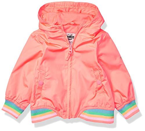 Osh Kosh Baby Girls Lightweight Jersey Lined Windbreaker Jacket, Bright Coral Neon, 18 Months