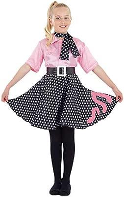Fun Shack Rosado Vestido Rock n Roll Disfraz para Niñas - S