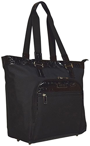[Kenneth Cole Reaction Croc Carry On Tote Bag (Black)] (Wheeled Boarding Tote)