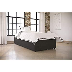 Platform Bed with Storage in Black