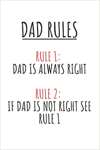 Son Wife Funny Present Fathers Day Greetings And Messages From Daughter Dad Rules Notebook
