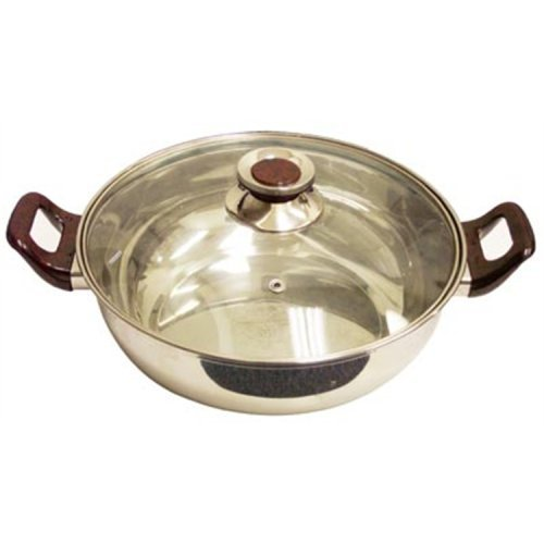 (Sunpentown HK-4200A Stainless-Steel Induction-Ready Pot with Glass Lid)
