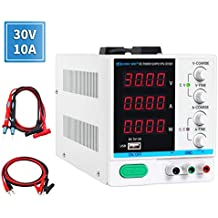 DC Power Supply Variable 30V 10A, 4-Digital LED Display, Precision Adjustable Switching Regulated Multifunctional Power Supply Digital with USB Interface, Disply with Output Power Lab Grade
