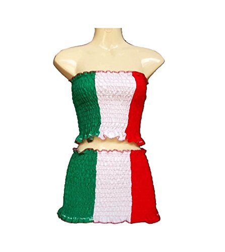 Fashion Sexy Skirt Outfit Dress Strapless Cotton Euro 2016 Football Team Flag 2pc/order (Italy) (Sexy German Costume)
