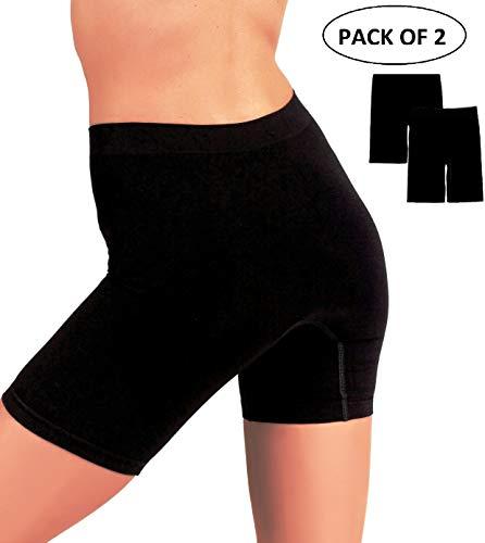 EVARI Women's Seamless Slip Shorts Ultra Soft Boy Shorts Panties (Black, Large) ()