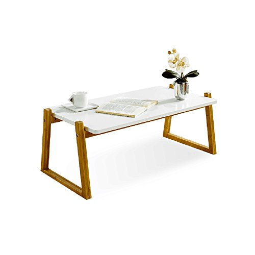 - Canary Products ZR50T Modern Multi-Purpose Bamboo Extra Long Coffee Table for Living Room or Bedroom, 50 Inch Tall, Brown & White