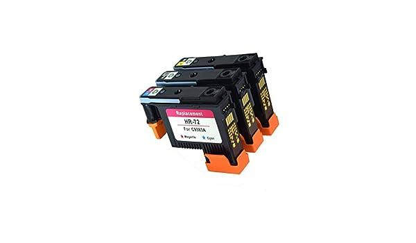 Teng® 3X Cabezal de impresión reacondicionado HP 72 C9384A C9383A C9380A para HP Designjet T1100 2300 T610 T620 T770 T790 T1120 T1200 T1300 T2300: Amazon.es: Oficina y papelería