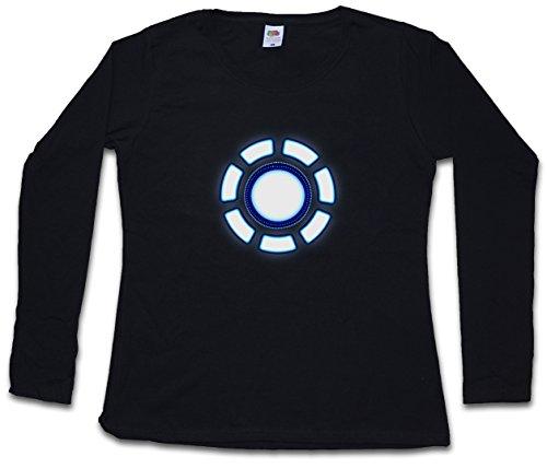 ARC REACTOR II DAMEN GIRLIE LANGARM T-SHIRT - Iron Industries Avengers Tony Man Stark Mark Girl Größen XS – 2XL