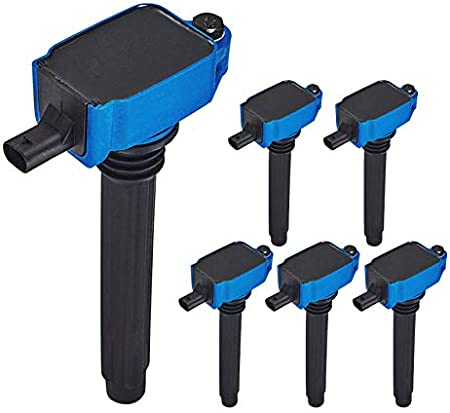 ENA High Performance Set of 6 Ignition Coil Compatible with 2011-2017 Chrysler Dodge Jeep Ram Promaster C//V Volkswagen Routan V6 3.6L 3.0L