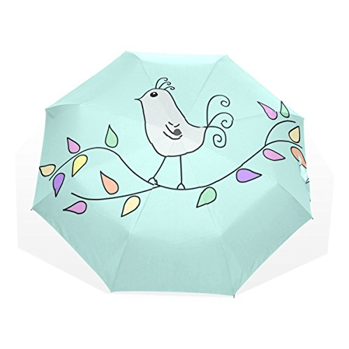Of The Birds Folding umbrella Glass Fiber Umbrella Skeleton Nano Umbrella Cloth ()
