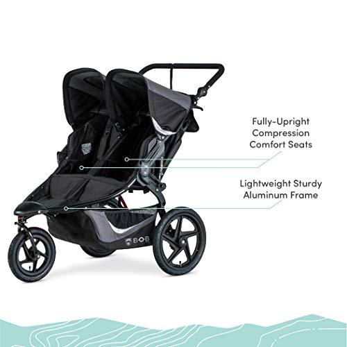 41ckdgEzE2L - BOB Gear Revolution Flex 3.0 Duallie Double Jogging Stroller | Smooth Ride Suspension + Easy Fold + Adjustable Handlebar, Graphite Black [New Logo]