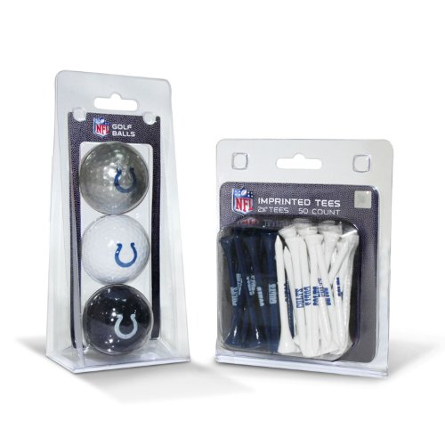 NFL Indianapolis Colts 3 Golf Balls And 50 Golf ()