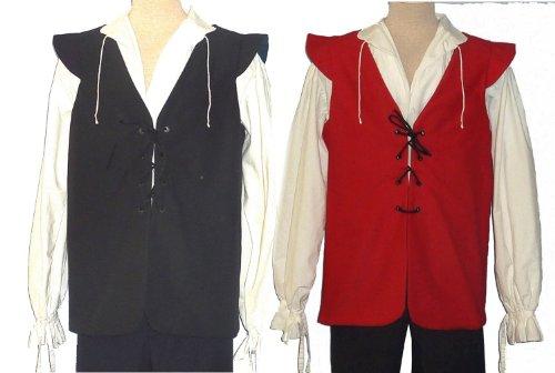 Sca Costumes (Jerkin (M-40, Black/Red))