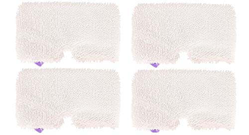 4 Pack Steam Mop Pads Machine Washable Microfiber Mop Cleaning Pads Replacement for Shark Steam Pocket Mops S3500 Series S3501 S3601 S3550 S3901 S3801 SE450 S3801CO S3601D (Shark Professional Steam Pocket Mop Model S3601)