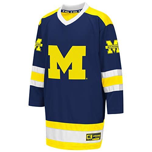 Colosseum NCAA Youth Boys Athletic Machine Hockey Sweater Jersey-Michigan Wolverines-Youth Medium ()