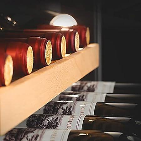 Mini Vinoteca Nevera vinos Nevera Termoeléctrico para Bodega de Vino de Encimera Pequeña para Dormitorio Oficina Cocina 18 Botellas