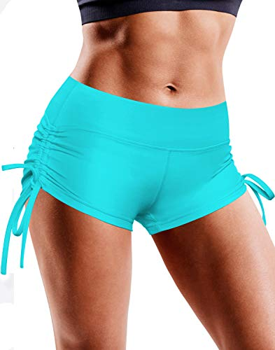 BUBBLELIME Yoga Shorts Running Shorts Workout Fitness Active Wicking UPF30+ Yoga Tummy Control