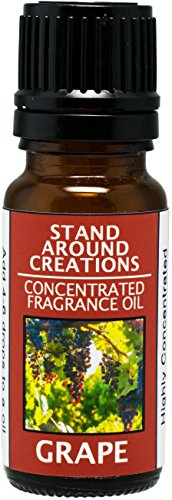 Concentrated Fragrance Oil - Scent - Grape- Fresh, juicy notes of plump concord grapes. Infused w/essential oil. (.33 fl.oz.)