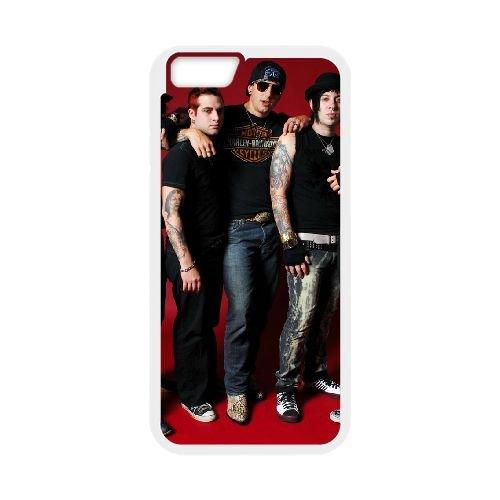 Avenged Sevenfold coque iPhone 6 Plus 5.5 Inch Housse Blanc téléphone portable couverture de cas coque EBDOBCKCO12743
