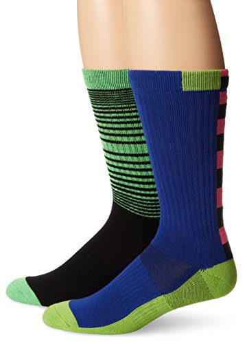 K. Bell Socks Men's 2 Pack Exclamation Tech Crew Sock,Black,Sock size:10-13/shoe size: 6.5-12