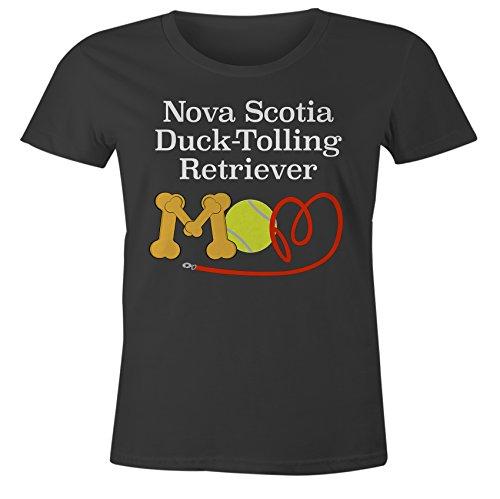 Funny Nova Scotia Duck Tolling Retriever Mom Dog Breed T-Shirt - Black Form Fitting - ()