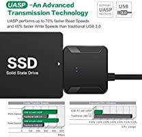 Vkospy USB 3.0 a SATA 3 Cable Adaptador rápido SSD Drive ...