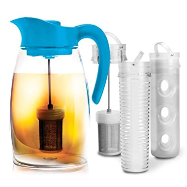 Primula Flavor-It Beverage System – Includes Fruit Infusion Core, Tea Infusion Core, and Chill Core – Dishwasher Safe – 2.9 Qt. – Blue