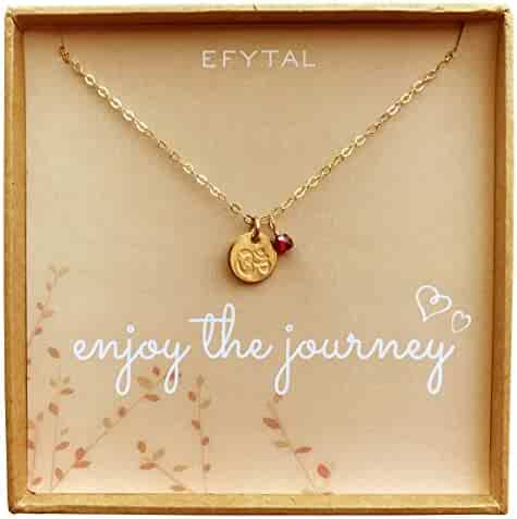 953ddcb8d88a71 Tiny Gold Filled Ohm Necklace on Enjoy The Journey Card Dainty Om Pendant -  Yoga Necklace