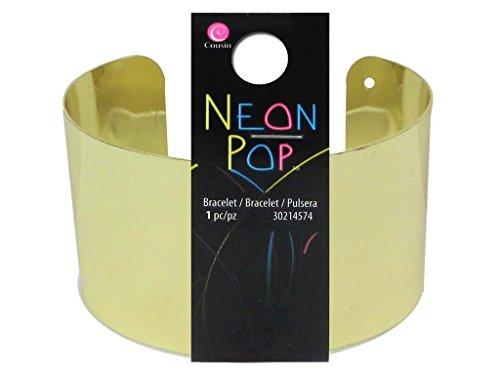 Cousin COU30214574 Bracelet Gold Cuff Neon Pop Collection