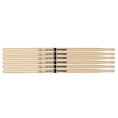 - Promark Japanese White Oak 747 Neil Peart Wood Tip Drum Stick (3 Pair Bundle)