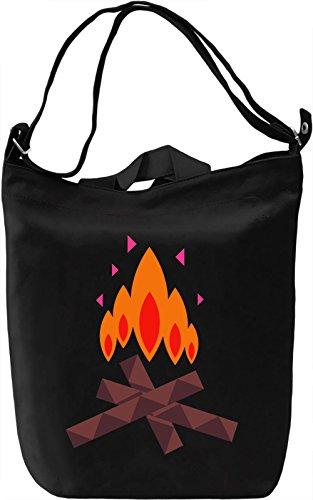 Fire Borsa Giornaliera Canvas Canvas Day Bag  100% Premium Cotton Canvas  DTG Printing 