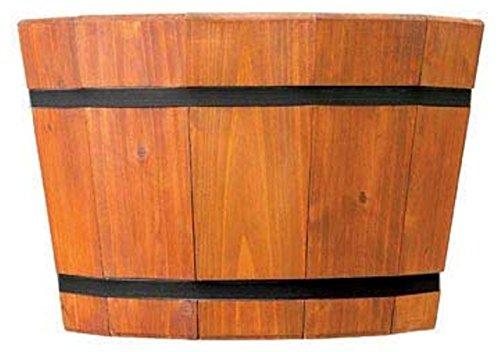Barrel Tub - Pennington 100510677 Shallow Barrel Tub Heartwood 17in, 17
