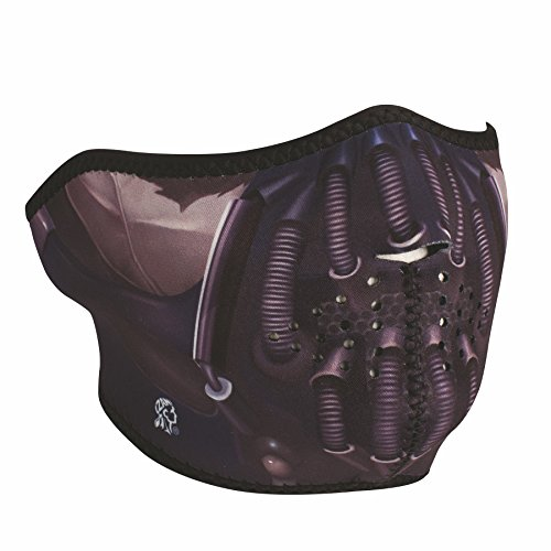 ZANheadgear Neoprene Half Mask Pain Reversible to Black Motorcycle Mask