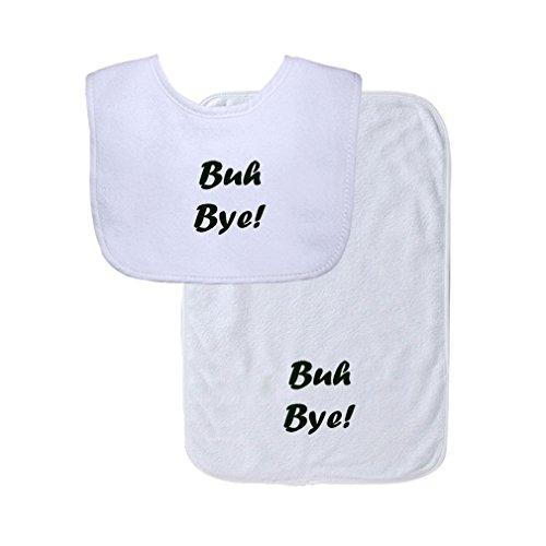 Buh Bye Cute Rascals Gingham Baby Bib & Burb Set - Buh Bye