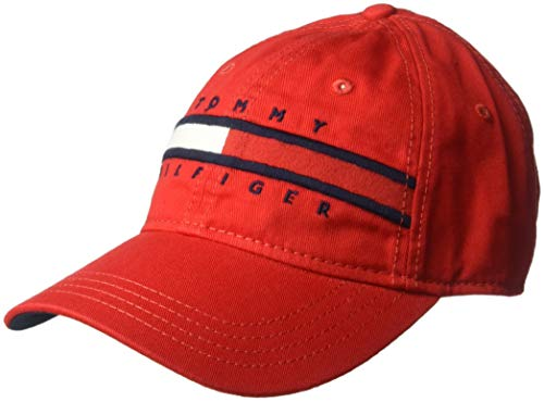 Tommy Hilfiger Men's Dad Hat Avery, Racing red, ()